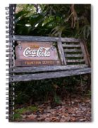 Coca Cola Bench Spiral Notebook