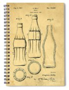 Coca Cola Bottle Patent Art 1937 Blueprint Drawing Spiral Notebook