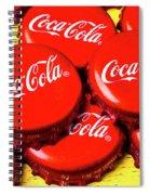 Coca Cola Caps Spiral Notebook