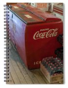 Coca-cola Chest Cooler General Store Spiral Notebook