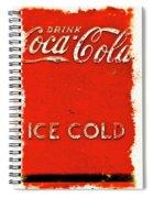Coca-cola Cooler Spiral Notebook