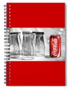 Coca-cola Glasses And Can - Selective Color By Kaye Menner Spiral Notebook