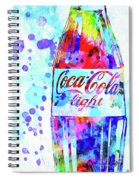 Coca Cola Light Spiral Notebook