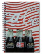 Coca Cola Olympic Commemorative Bottles Spiral Notebook