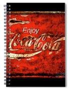 Coca Cola Square Soft Grunge Spiral Notebook