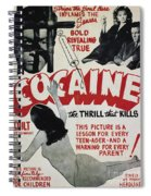 Cocaine Movie Poster, 1940s Spiral Notebook