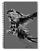 Cock Bw II Transparant Spiral Notebook