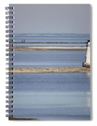Cockspur Island Lighthouse With Jetty Spiral Notebook