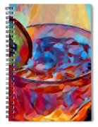 Cocktail Watercolor Spiral Notebook