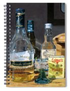 Cocktails And Mustard Spiral Notebook