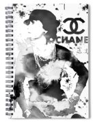Coco Chanel Grunge Spiral Notebook