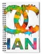Coco Chanel Paint Splatter Color Spiral Notebook