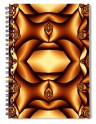 Cocoa Fractal Roses Spiral Notebook
