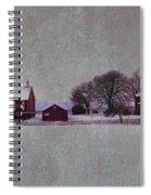 Codori Farm At Gettysburg In The Snow Spiral Notebook