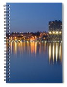 Coeur D Alene Night Skyline Spiral Notebook