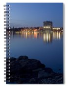 Coeur D Alene Skyline Night Spiral Notebook