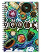 Coexisting With Coffee And Donuts Spiral Notebook