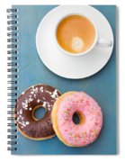 Coffee And Baked Donuts Spiral Notebook