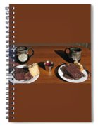 Coffee And Chocolate Cake. Mountain House Inn Spiral Notebook