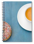Coffee And Donut Spiral Notebook