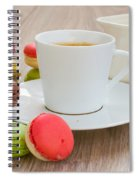 Coffee  And Macaroons Spiral Notebook