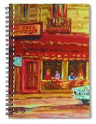 Coffee Bar On The Corner Spiral Notebook