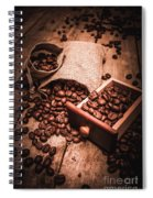 Coffee Bean Art Spiral Notebook