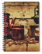 Coffee Bean Grinder Beside Old Pot Spiral Notebook
