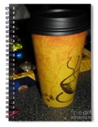 Coffee Cup Series. Yellow And Orange. Spiral Notebook
