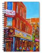 Coffee Depot Cafe And Terrace Spiral Notebook