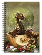 Coffee Dragon Spiral Notebook