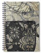 Coffee Flavors Gold And Black Spiral Notebook