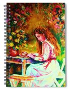 Coffee In The Garden Spiral Notebook