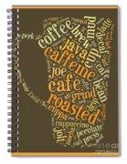 Coffee Lovers Word Cloud Spiral Notebook