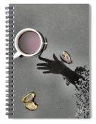 Coffee On Black Top Pond No. 5 Spiral Notebook