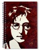 Coffee Painting John Lennon Spiral Notebook