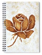 Coffee Painting Rose Blooming Spiral Notebook