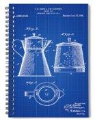 Coffee Pot Patent 1916 Blue Print Spiral Notebook