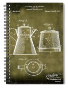 Coffee Pot Patent 1916 Grunge Spiral Notebook
