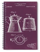 Coffee Pot Patent 1916 Red Spiral Notebook