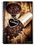 Coffee Shop Love Spiral Notebook