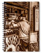 Coffee Time At The Station. Spiral Notebook