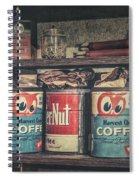 Coffee Tins All In A Row Spiral Notebook