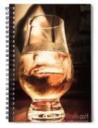 Cognac Glass On Bar Counter Spiral Notebook