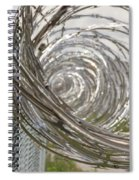Coiled Razor Wire On Fence Spiral Notebook