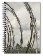 Coils Of Razor Wire On Fence Spiral Notebook