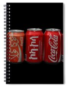 Coke Cans Spiral Notebook