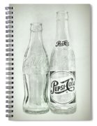 Coke Or Pepsi Black And White Spiral Notebook