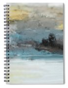 Cold Day Lakeside Abstract Landscape Spiral Notebook