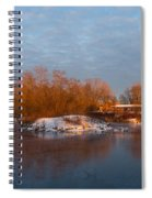 Cold Ice Warm Light - Early Winter Morning On The Lake Shore Spiral Notebook